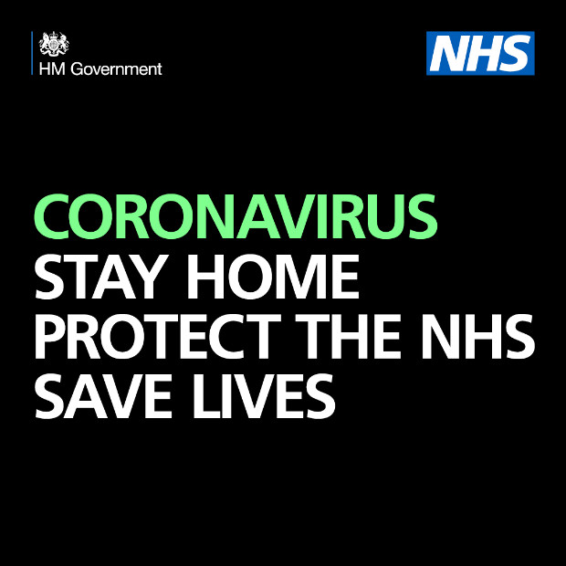 Government brand campaign to protect the NHS by staying at home